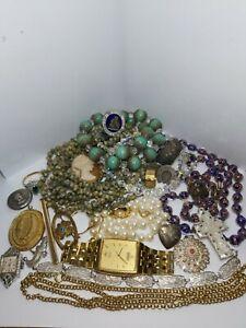 Job Lot of Vintage Jewellery 925 Silver items  antique interesting lot!