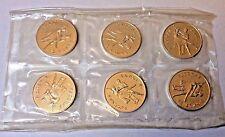 Russia 1993 1 oz Silver Bolshoi Ballet Mint Sheet of 6 coins Uncirculated Proof
