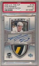 2005/06 UD THE CUP Dion Phaneuf RPA RC Rookie Patch Auto 3 Color /99 PSA 10