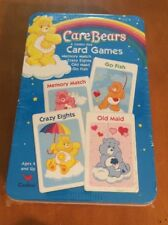 Care Bears 4 Jumbo Size Card Games in a Tin from 2004 Sealed