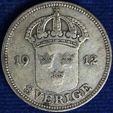 50 ORE 1912 W SVEZIA SWEDEN ARGENTO SILVER #1416A