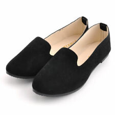 UK Womens Dolly Pumps Ballerina Ballet Flat Ladies Suede Work Loafers Shoes Size