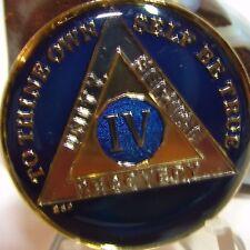 Azul Alcohólicos Anónimos 4 Año Aa medallón Token Chip moneda sobrity Sobrio