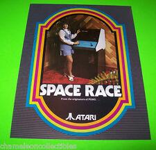 Atari SPACE RACE 1973 Original NOS Video Arcade Game Promo Sales Flyer Space Age