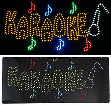 Enseigne lumineuse Panneau à LED KARAOKE 60x30x2.5cm