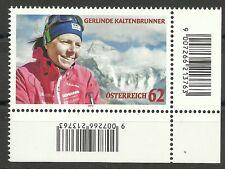BERGSTEIGERIN-Kaltenbrunner/ Österreich MiNr 3021 ** Eckrand rechts unten