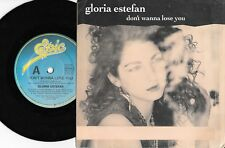 "GLORIA ESTEFAN - DON'T WANNA LOSE YOU - 7"" 45 VINYL RECORD w PICT SLV - 1989"
