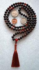 Natural Agate Striped Handmade Japa Mala Yoga Beads Necklace - Energized