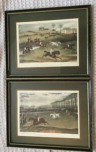 Two  F C Turner/G&C Hunt Framed Aquatint Racing Prints Aylesbury Steeple Chase