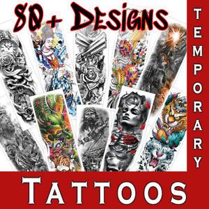 Temporary Tattoos Sticker Full Sleeve Body Art Tribal Men Women Fake tattoo