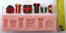 Noël Cadeaux Set Moule Silicone pour Gâteau Toppers,Chocolat,Argile Etc