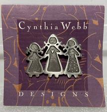 Cynthia Webb Designs Three Sisters Pin Brooch - Pewter