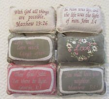 Shabby Chic Set Of 6 New Scripture Decorative Pillows