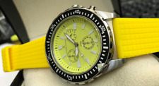 Jacques Cantani Sailor JC688 Diver Mens Watch Chronograph Stainless Steel Yellow