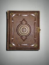 Leeres kleines Album Fotoalbum für 50 CDV Hartpappe Fotos ca. 1860/70er Jahre