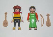 Playmobil Figurine Personnage Lot Couple Troubadourds + Instruments Musique New