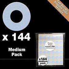 144 X colore blu pallido Hang tag Anello / Round Hole Punch RINFORZO Adesivi / Etichette