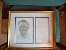 Framed GARY PLAYER Golfer Picture w/Complimentary Saying by Albert Roche