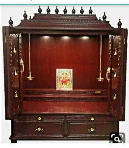 Handcrafted Decorative Home Pooja Wooden Temple/Mandir