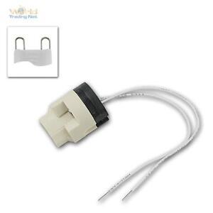 High Volt Socket G9, With Ptfe Pipe 15cm, Lamp Socket For G-9 Socket 230V