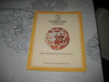 CHRISTIES CATALOGUE MAR84 LON IMP CHINESE EXPORT PORCELAIN
