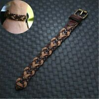 Bracelet Men Leather Women's Surfer Punk Wristband Braided Handmade Wrap Bangle