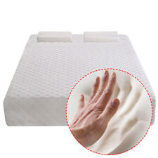 "New Full Size 10""  Memory Foam Mattress Pad Bed Topper 2 FREE Pillows"