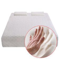 "New Full Size 10""  Memory Foam Mattress Pad Bed Topper 2 FREE Pillows"