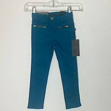 NWT 7 For All Mankind Girls Turquoise The Skinny Legging Denim Jeans Size 4