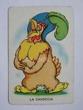 WALT DISNEY vintage 1930 figurina carta Modiano LA CHIOCCIA Wise Little Hen blu