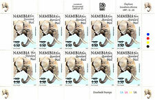 NAMIBIA 1997 DEFINITIVES OVERPRINTED 2005 SG999 SHEETLET OF 10 MNH