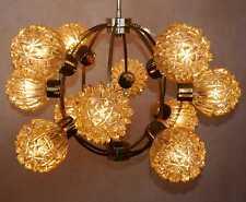 70s 70er Starburst amber glass crystal Orbit Ball Sputnik Chandelier Atomium