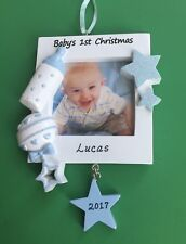 Baby's First Christmas Ornament - Boy - Personalized