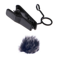 Durable Mini Microphone Fur Cover Wind Muff w/ Microphone MIC Clip Holder