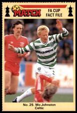 Match FA Cup Fact File 1986 - Mo Johnston (Cetic) No. 25