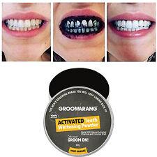 Groomarang carbón activado dientes Tooth whitening polvo orgánico natural de menta