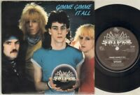 "SPIDER Gimme Gimme It All 7"" Ps, Orig 1986 Nwobhm Single, B/W Rock Tonite, 7p 34"