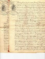 TWO Related French legal MANUSCRIPTS dated 1874