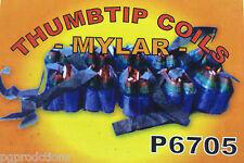 Mini Mylar Thumb Tip Coils 12 Pack Set Magic Trick Mouth Production Streamer 12'