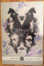 ORPHAN BLACK SIGNED PHOTO CAST 12X18! TATIANA MASLANY AUTOGRAPH EMMY WINNER