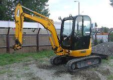 JCB 8030 ZTS Mini Escavatore COMPLETO CROMO decalcomania Set con Safty