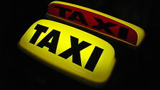 "TAXI ROOF SIGN YELLOW 18"" LED'S AERODYNAMIC TAXI METER TOPSIGN MAGNET ROOF LIGHT"