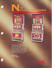 BALLY GAMING NICKELS TO RICHES COIN-OP CASINO SLOT MACHINE PROMO SALES FLYER
