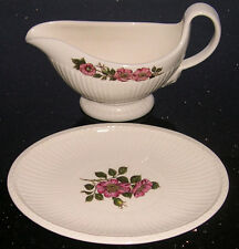 Wedgwood Briar Rose -  Gravy Boat and Separate Stand/Dish - Lovely Item.