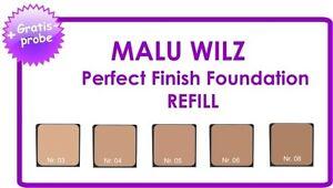 "Malu Wilz ""Teint"" REFILL Perfect Finish Foundation 9gr Farb Nr. 03 04 05 06 08"