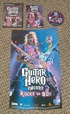 PS2 GUITAR HERO ENCORE ROCKS THE 80'S COMPLETE w/ Case & Instructions VGC