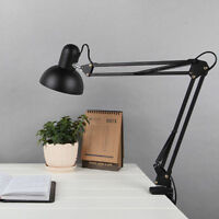 Desk Lamp Reading Adjustable Folding Clip-on LED Table Swing Arm Light Lamp US