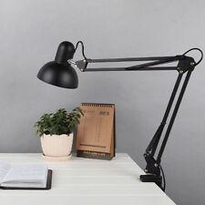 US Large Adjustable Swing Arm Drafting Office Studio Clamp Table Desk Lamp Light