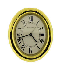 Cartier Gold Enamel Quartz Desk Clock