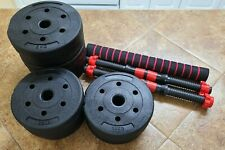 Adjustable 44LB Dumbbell Weight Set Barbell Lifting Accessories 1 DAY QUICK SHIP